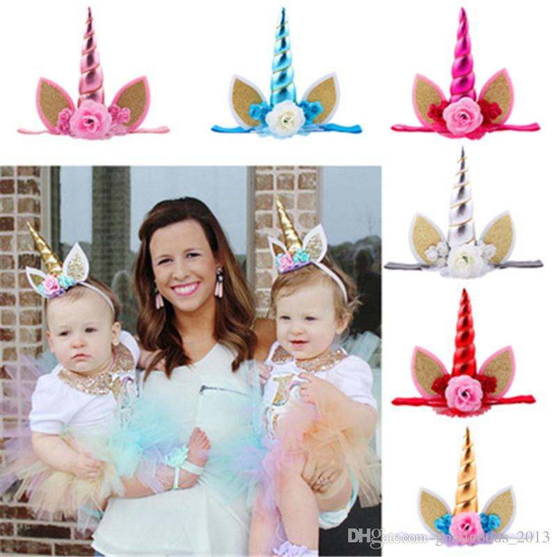 Hair Accessories Mother & Kids Obedient Cute Flower Headband Elastic Hair Band For Baby Girls Kid Hair Headwear Red Pink Accessories