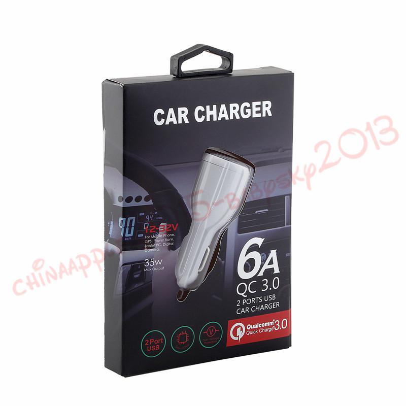 Pour iphone x samsung Chargeur de voiture Double ports usb 2.4A Real Led chargeur de voiture léger adaptateur pour ipad iphone 6 7 8 htc android téléphone gps mp3