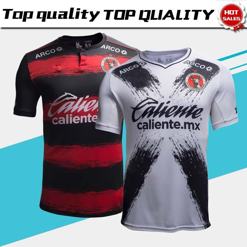 f70fa273f76ff 2019 New Tijuana Club Soccer Jerseys 18 19 Tijuana Inicio Red Black  Football Shirt 2018 Mexico Visitante White Club Soccer Camisetas Envío  Gratis Por ...