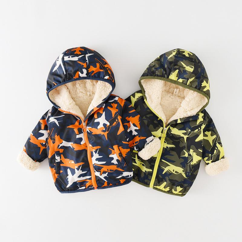 41adb3714 Cartoon Hooded Tench Coats 13 Colors Unicorn Camouflage Thickening Fur  Cashmere Zipper Clothes Windproof Rainproof Jackets Baby Animal Coat