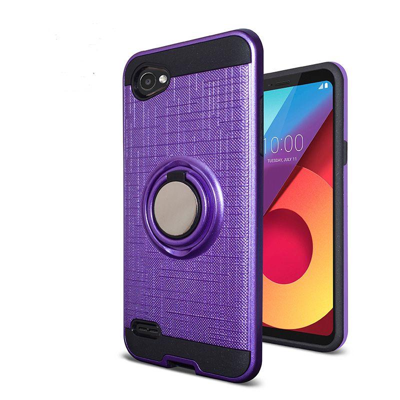 Armor Cell Phone Case TPU PC Magnetic Suction Bracket For Motorola MOTO E5 E6 LG K30 Samsung A50 Case Cover 360 Degree Holder