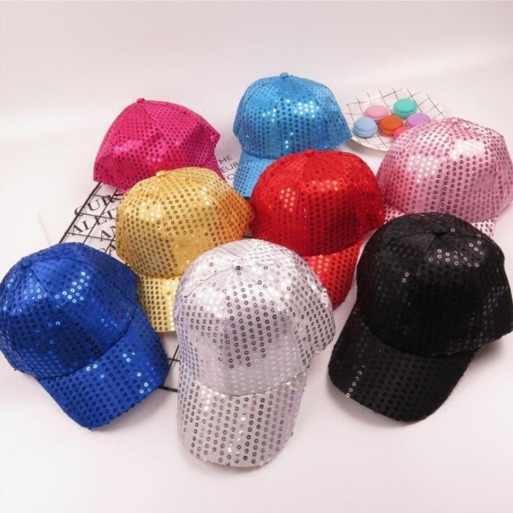 Compre Lantejoula Dança Chapéu De Beisebol 8 Cores Sparkly Ajustável Bola  Chapéus De Hip Hop Glitter Espumante Chapéus Do Partido Cap Ooa5594 De ... b92299d74d5