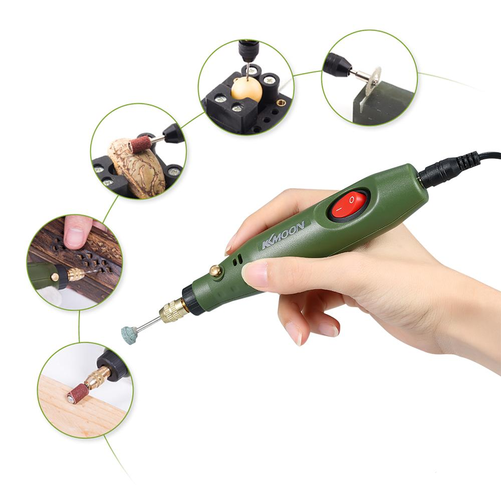 DC12V US Multi-functional Mini Electric Grinder Set Electric Drill Grinding Rotary Tool Kit for Milling Polishing Engraving