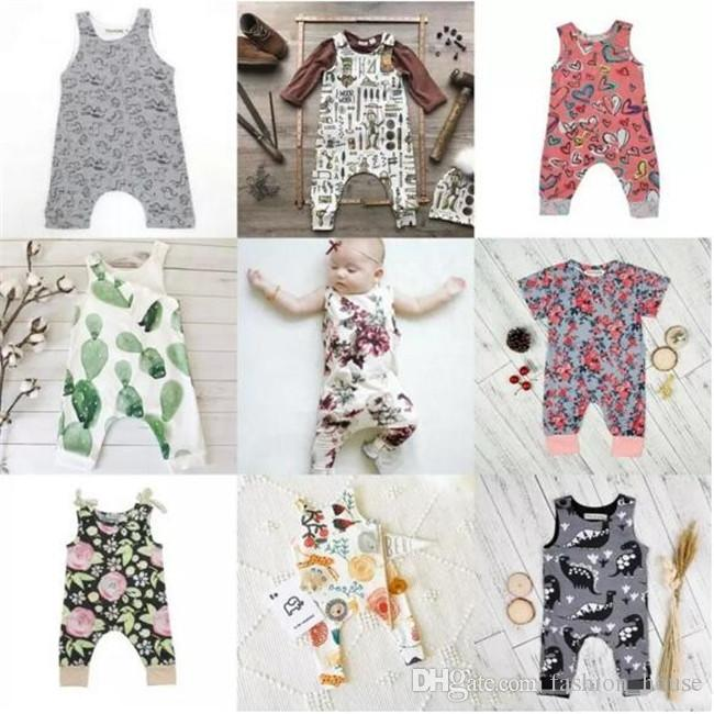 27053c55e INS Baby Boys Girls Summer Clothing Sets Kids Printed Floral ...