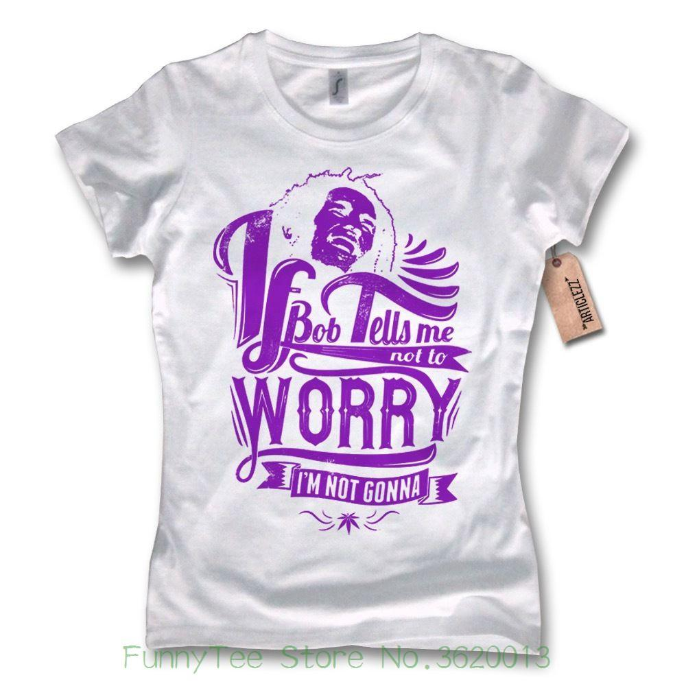693563daa7fde0 Women's Tee Damen T-shirt - Bobby - Marley Jamaica Discount Wholesale Bob  100% Baumwolle Wei ? S M L Xl Female Fantastic