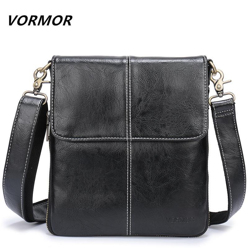e90495aae256 VORMOR Leather Men Bag Fashion Leather Crossbody Bag Shoulder Men Messenger  Bags Small Casual Designer Handbags Man Bags Shoulder Bags Leather Bags  From ...