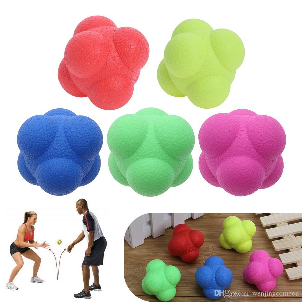 Palla da rimbalzo esagonale solida Palla da allenamento agile Fitness Reattore di velocità palla da ginnastica all'aperto bambini adulti Esercizio