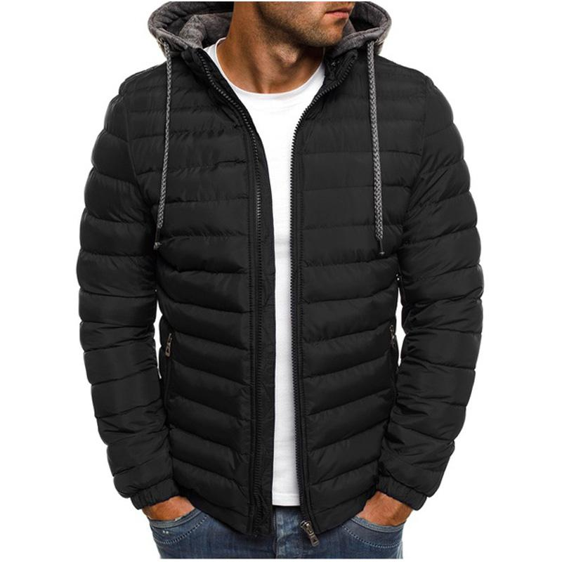 b88c3072dd19 New Mens Fashion Winter Coat Men Hooded Jacket Cotton Casual Mens Jackets  And Coats Warm Overcoat Streetwear Men Thick Parka Mens Jacket For Sale  White ...