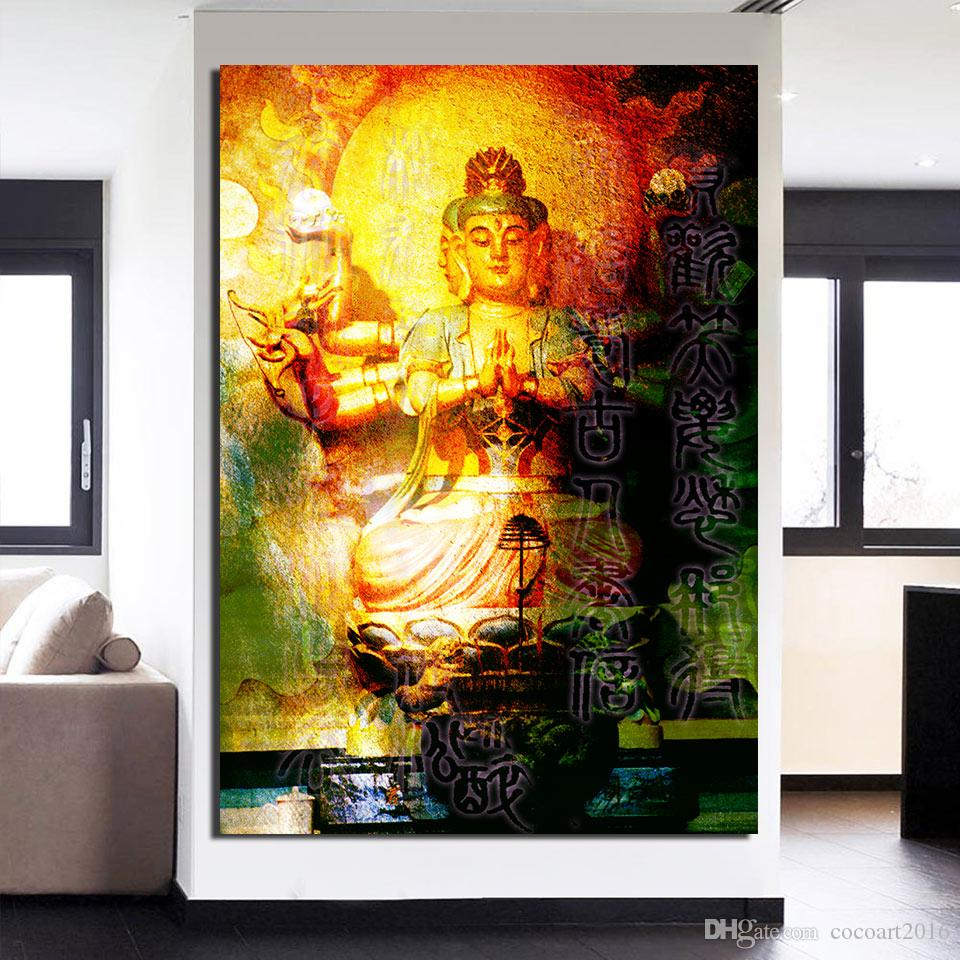 canvas art large buddha wall art meditation canvas Painting Posters and Prints wall picture for living room ny-6641D