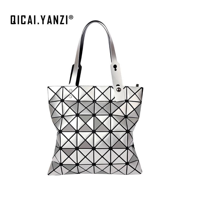 4cb70a4682 YANZI Women Handbags Geometric Laser BaoBao Handbag Women Lingge Bao Bao  Tote Fashion Briefcase Shoulder Bags Bucket Z930 Handbag Sale Side Bags  From ...