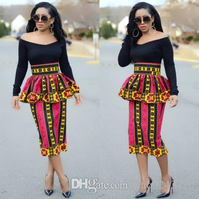 6ebb01517a 2019 Free Ship Women Fashion African Totem Print Pencil Skirts Casual High  Waisted Bodycon Midi Skirt Dashiki Clothes From Liao0243420, $15.08 |  DHgate.Com