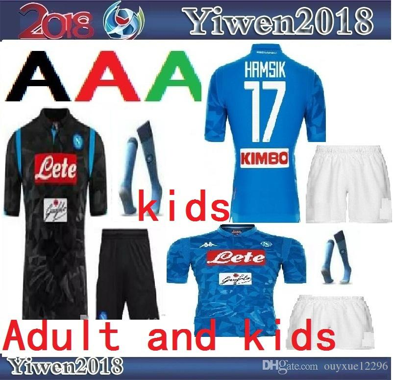 9447024aa8920 2019 Adult And Kids 18 19 Napoli Soccer Jersey Home 2018 2019 Naples  ZIELINSKI HAMSIK INSIGNE MERTENS CALLEJON PLAYER ROG Football Shirts From  Ouyxue12296