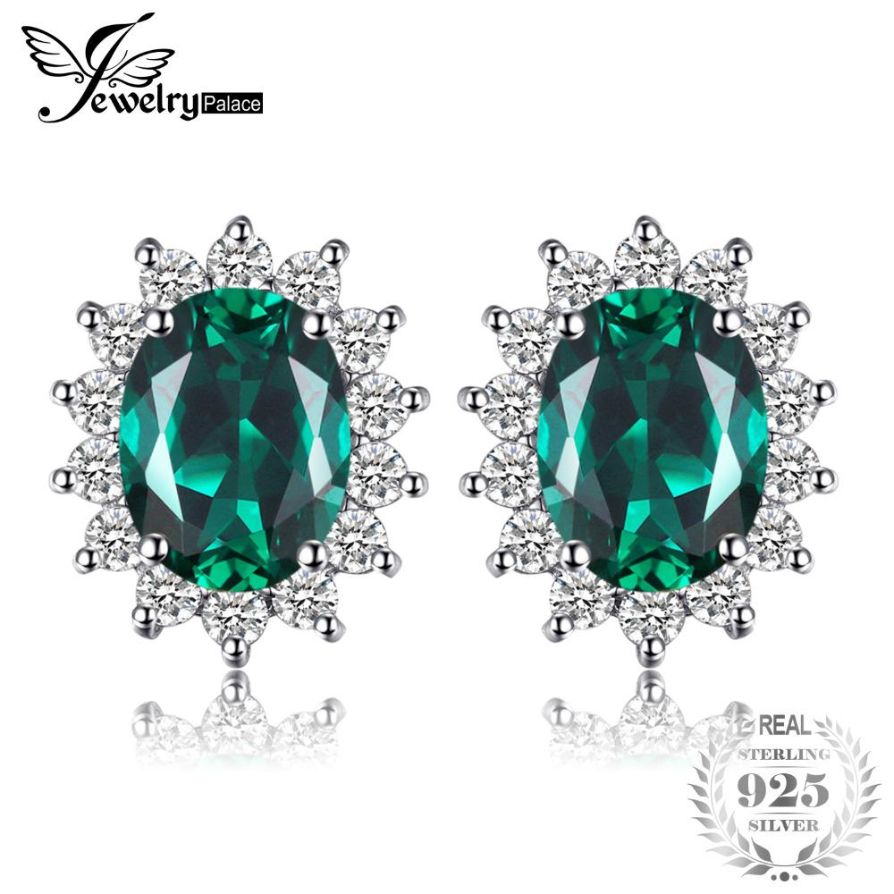 0c5faf37e 2019 Jewelrypalace Princess Diana William Kate Middleton's 1.1ct Created Emerald  Stud Earrings 925 Sterling Silver Gift From Sihuoguo, $31.28 | DHgate.Com