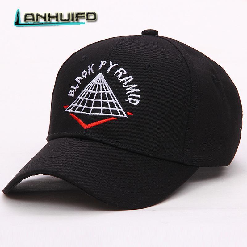 7ac8ffc05cfc2 LANHUIFD New Embroidery BLACK PYRAMID Cap Dad Hat bone feminino Hip Hop  Women s cap gorras para hombre Baseball Man Letter