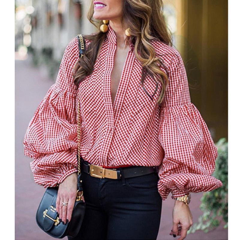 Moda Estilo 2 Mujer Compre Camisas Damas Causal Tops Otoño Blusa aUadqz