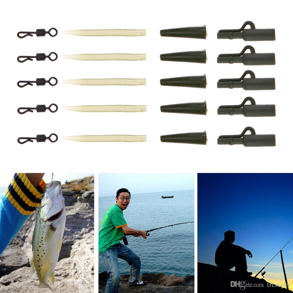 Carp Fishing Accessories Hair Rig Connector Lead Clips Fishing Quick Change Swivels Anti Slip Sleeve Fishing Tool Pesca