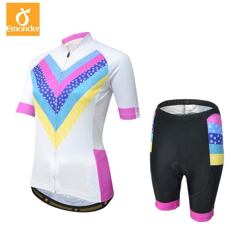 EMONDER Cycling Jersey Sets Women Summer Quick-Dry MTB Bike Cycling ... cdd2b48a4
