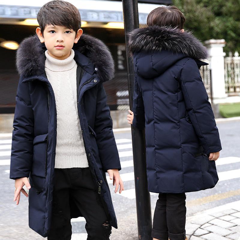 ae78e7a28 White Duck Down Children Winter Jacket Boy Winter Coat Kids Warm ...