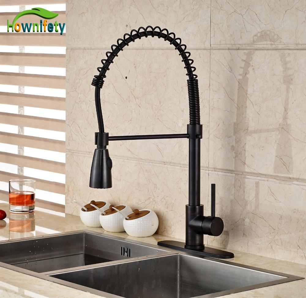 Oil Rubbed Broze Kitchen Faucet Pull Down Sprayer 360 Degree Mixer Tap With 8 Cover Plate Bathroom Nickel Life
