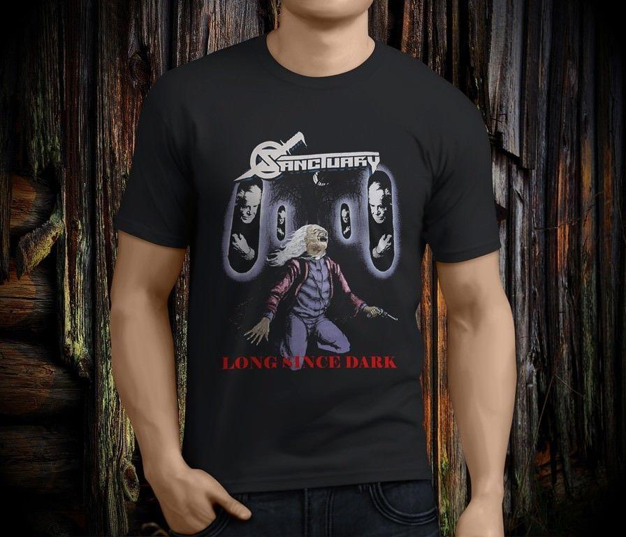 New Popular SANCTUARY Into The Mirror NEVERMORE Men's Black T-shirt Size S-3XL Cartoon Print Short Sleeve T Shirt Free Shipping