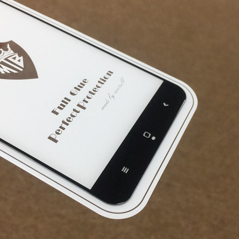 Perakende Tam Tutkal Tam Kapak Temperli Cam Paketi ile Samsung A7 için 2017 A9 PRO 2016 C9 PRO A6 2018 A6 ARTı 2018