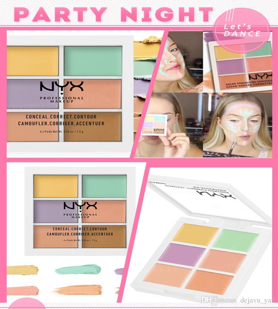NYX 6 Renkler Profesyonel Yüz Kontur Makyaj Kapatıcı Paleti Kapatıcı fondöten parlatıcı makyaj tam kapak kadın kozmetik