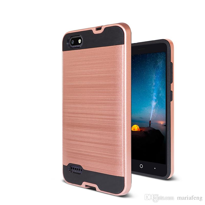 For zte blade L7 PC TPU slim shockproof armor phone case for zte A320 DHL  free shipping