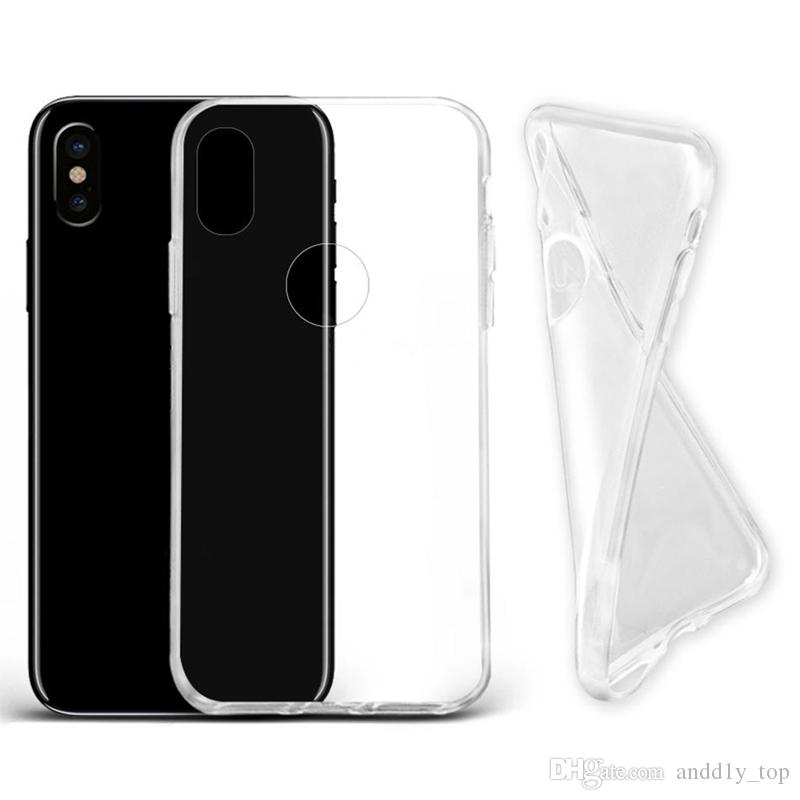 official photos 512a1 48495 For IPhone X 8 Thick TPU Case For Samsung Galaxy S8 S9 Plus Clear Soft TPU  Case High Quality 1.0mm Soft Transparent Gel Case with OPP Bag