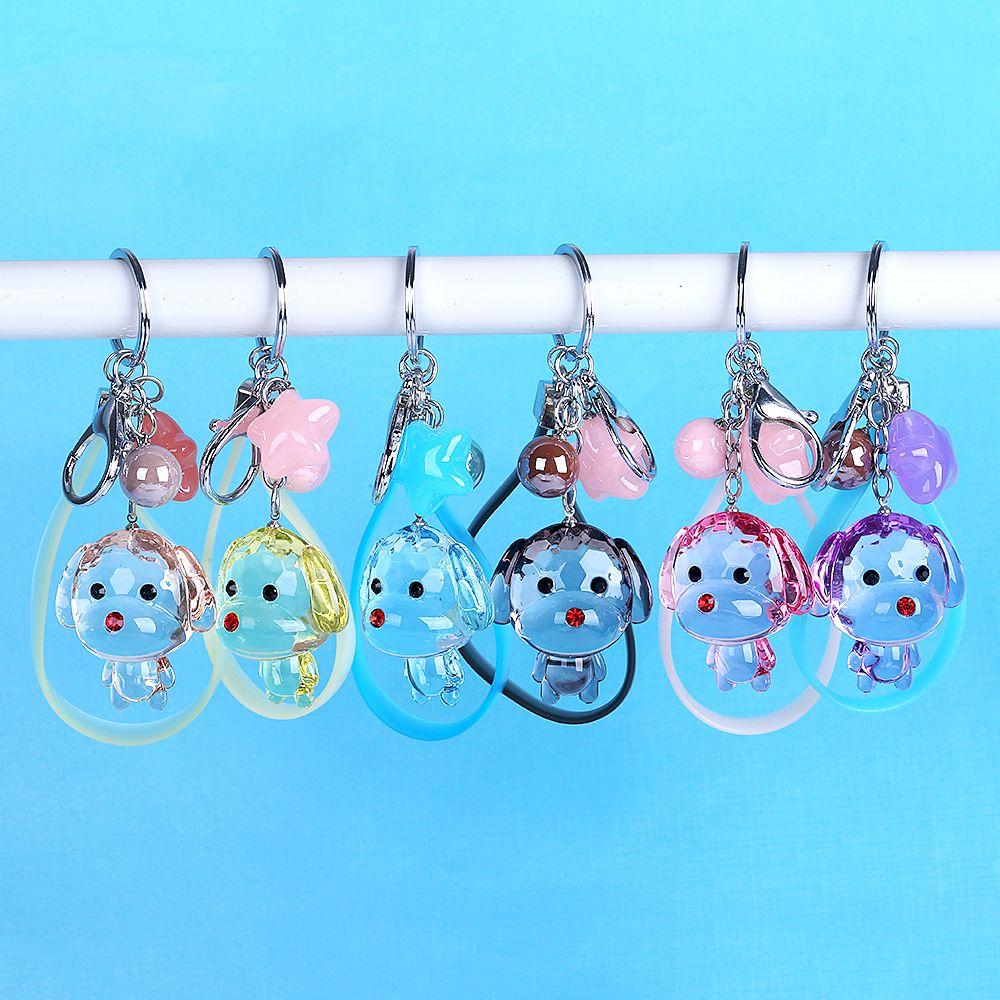 Creative Cartoon Cute Animal Transparent Crystal Dogs Keychains Women  Jewelry Plastic Star Beads Keyring Car Pendants Key Chains Batman Keychain  Fur ... 1ba0722cf9