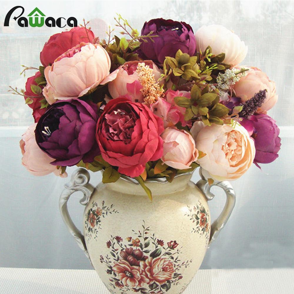 2019 Wholesale Home Decorative Flowers European Artificial Silk