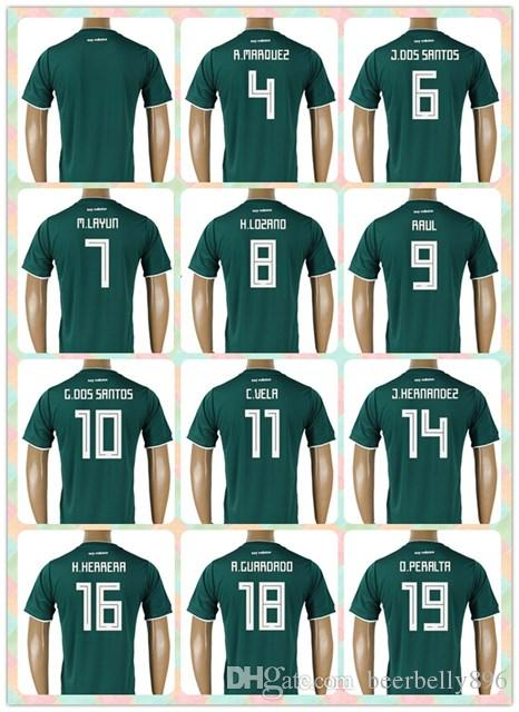 3a33e73b9 ... uk best customized thai 2018 world cup country jersey mexico 4 r.  marquez 7 m