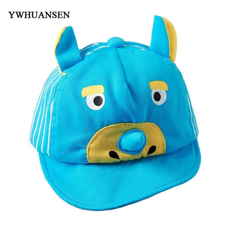 0b574ae4663 YWHUANSEN 2018 New Children s Cotton Net Baseball Caps Unisex Baby Summer  Sunscreen Snapback Hats Long Nose Cartoon Casual Caps Trucker Hats Flexfit  From ...
