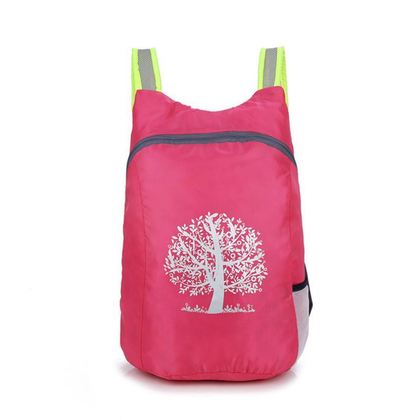2018 New Hot Pink Durable Folding Packable Backpack Light Weight ... 32da43dbeb9cf