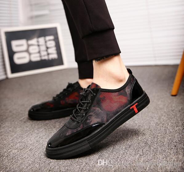2018 New Men Shoes Lace-up Casual Shoes Mens Cow Leather boots Fashion Men Loafers Men Flats moccasins hombre N52