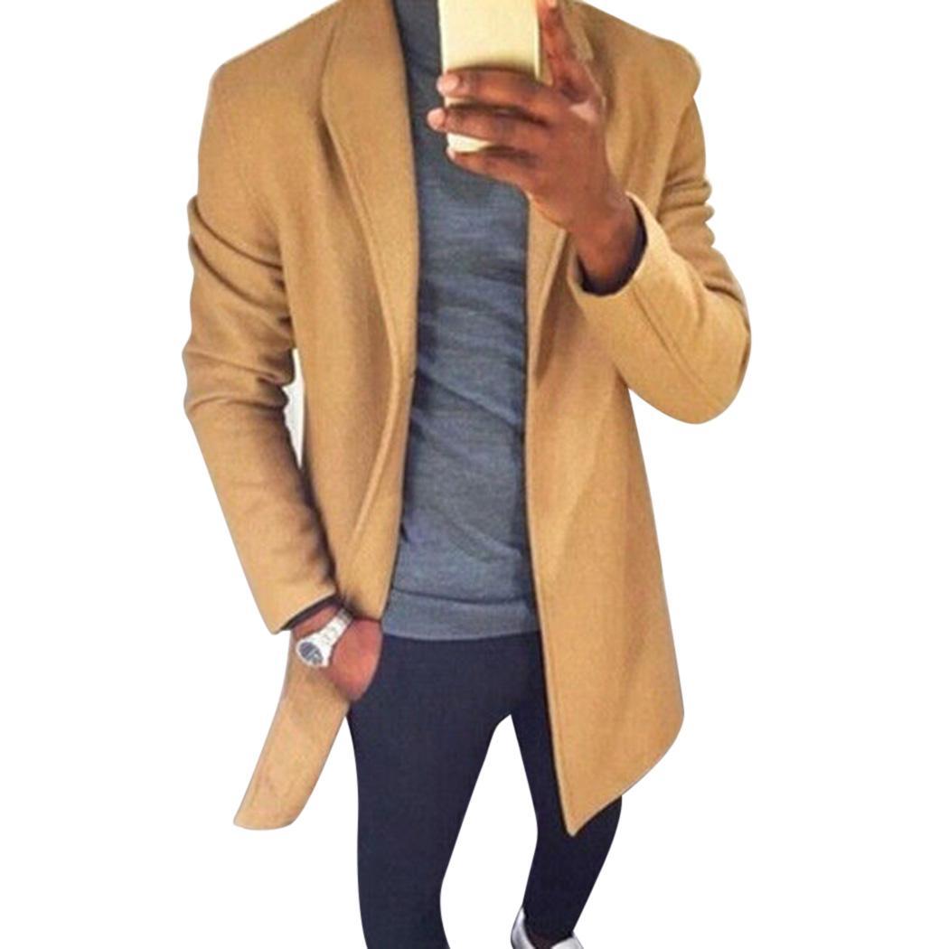 Acquista Plus Size Autunno Inverno Uomo Cappotto Di Lana Trench Caldo  Risvolto Lungo Cappotti Cardigan Moda Maschile Solid Slim Giacca A Vento  Outwear A ... c902ffa1d83