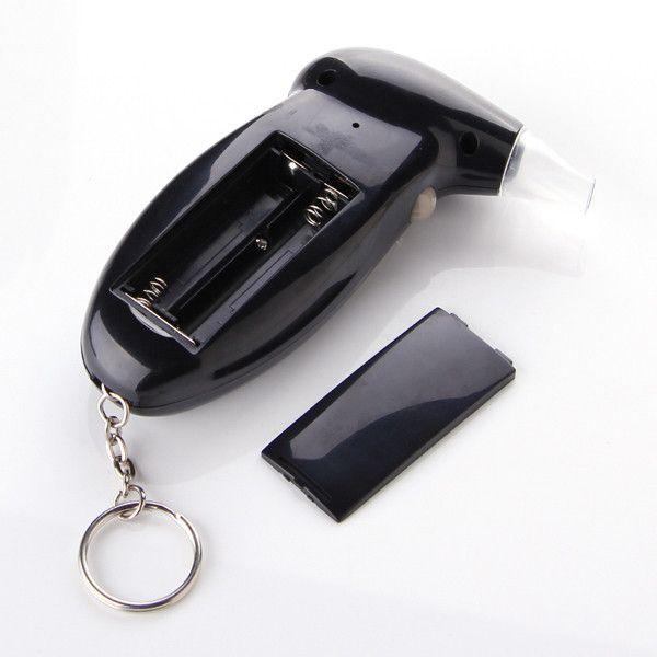 YENTL Envío gratis coche policía Alcohol Tester Retroiluminación analizador de aliento de alcohol Alcoholímetro digital con 5 boquilla Envío de la gota