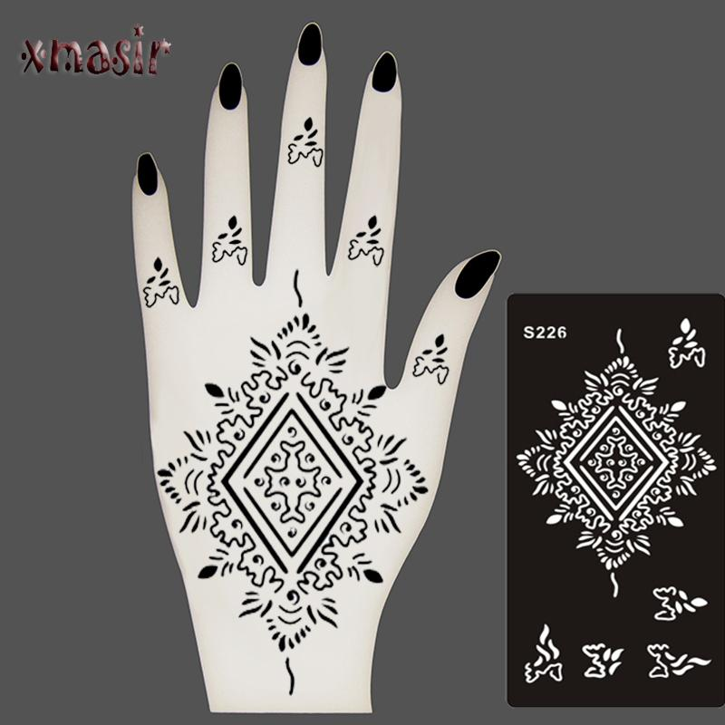 Body Paint Mehndi Indian Henna Tattoo Stencils,Temporary Glitter ...