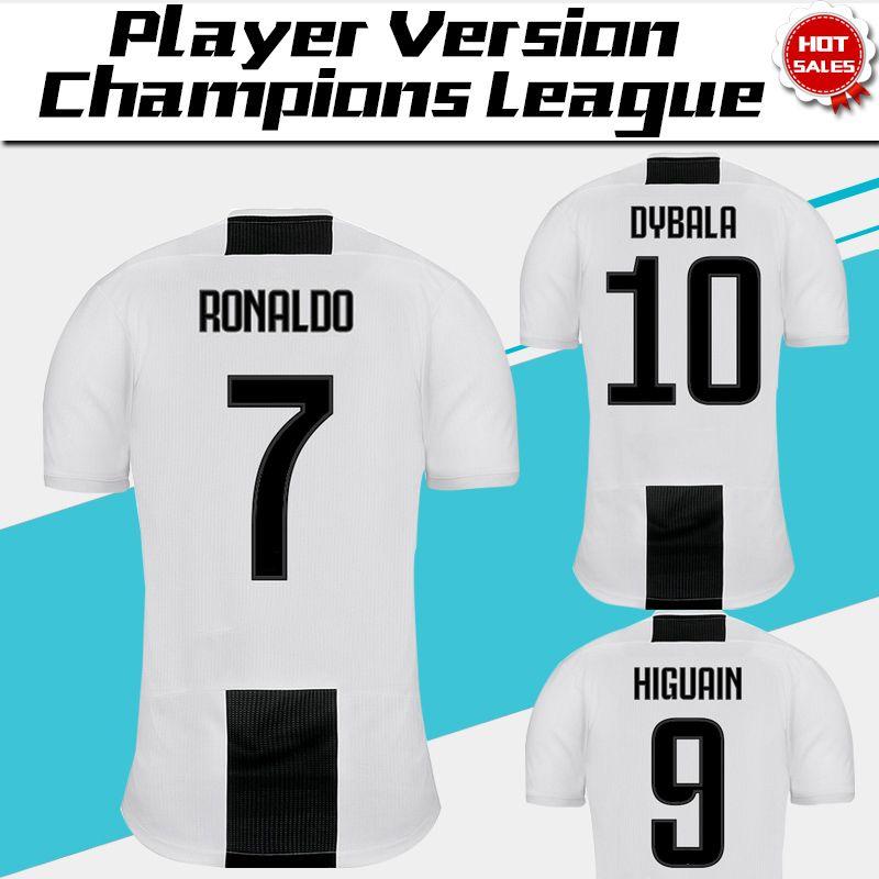 c812dc370 2019 2019 Champions League Player Version Juventus Home Soccer Jersey 18 19 7  RONALDO DYBALA Soccer Shirt MANDZUKIC PJANIC Football Uniform S 3XL From ...