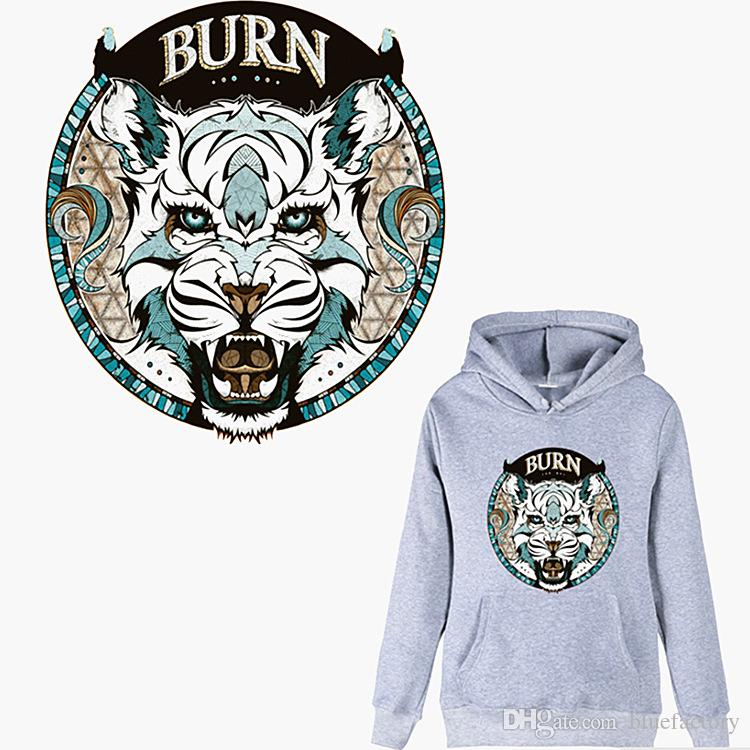 45d4c3d6f9c59d 2019 Heat Transfer Patch Lion Tiger Wolf Animal Iron On DIY Sticker  Washable Badges Vinyl Patch For Clothes T Shirt Customize Custom Design  From Bluefactory ...