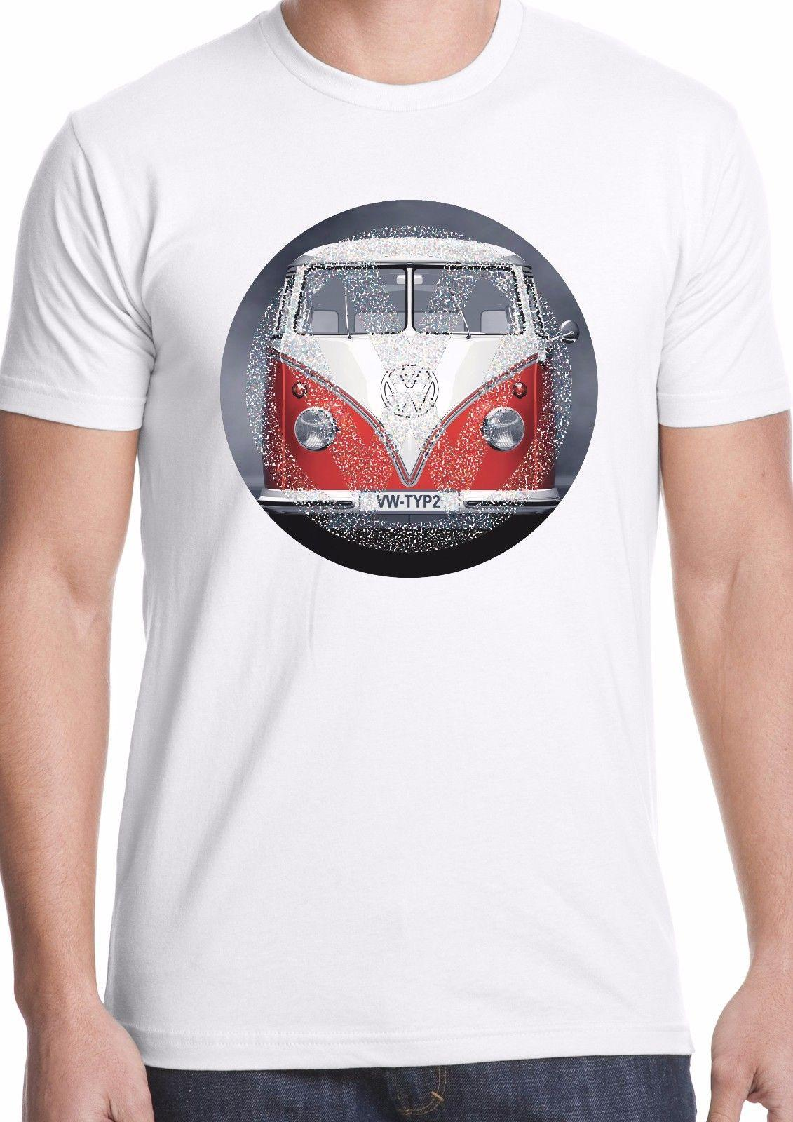 b1396b78be Vw Bus T Shirt Split Screen Surf Camper Van Two Tone Logo 2018 High Quality  Brand Men T Shirt Casual Short Sleeve O Neck Best Sites For T Shirts Tee  Shirt ...