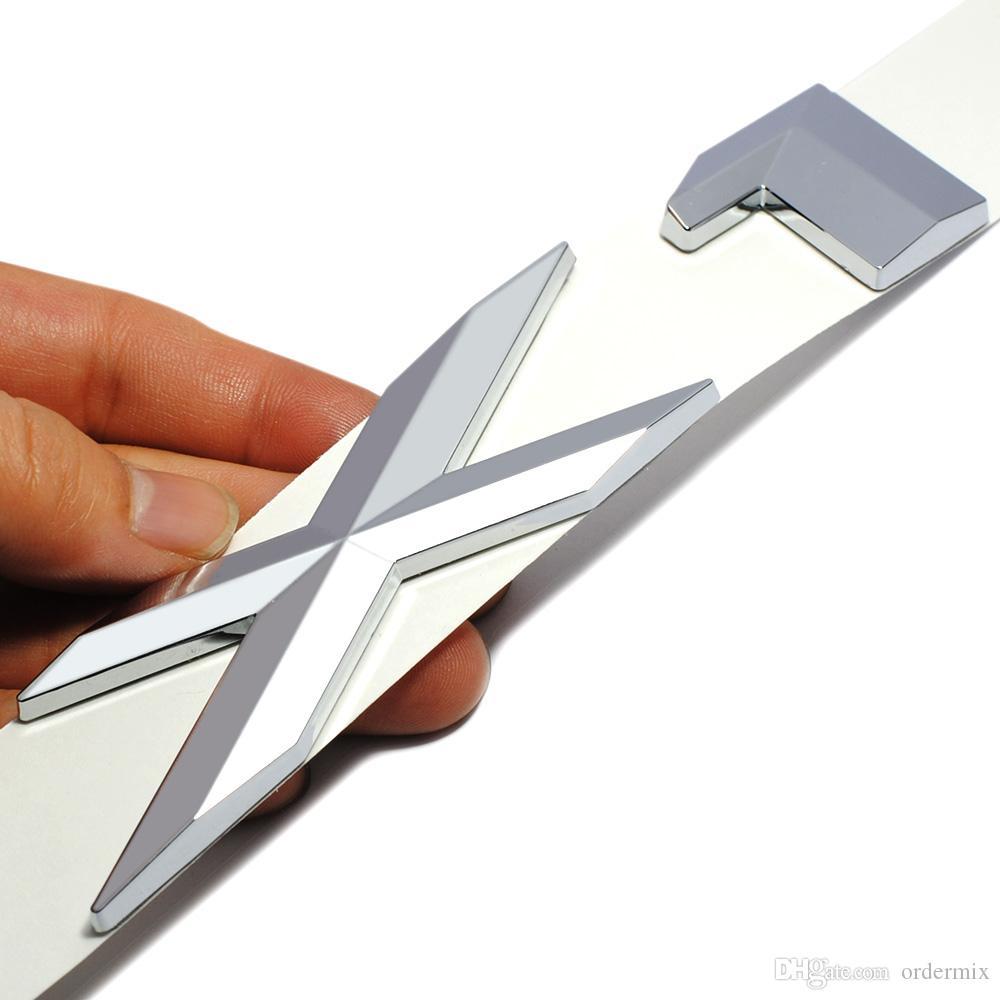 3D Kunststoff Chrome Logo Silber Schwanz Brief Emblem Abzeichen Aufkleber Dekoration für BMW X1 X3 X5 X6 E83 F25 GT Zubehör Styling
