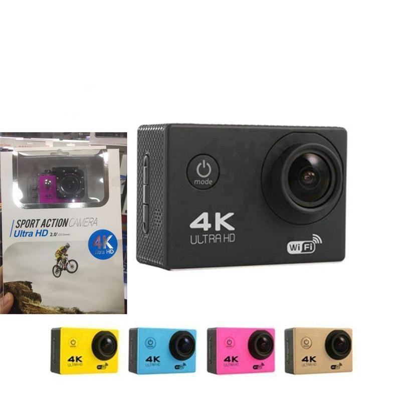 997a9c04616 Sports Action Camera HD 4K 2.0 WIFI Diving 30 Meter Waterproof ...