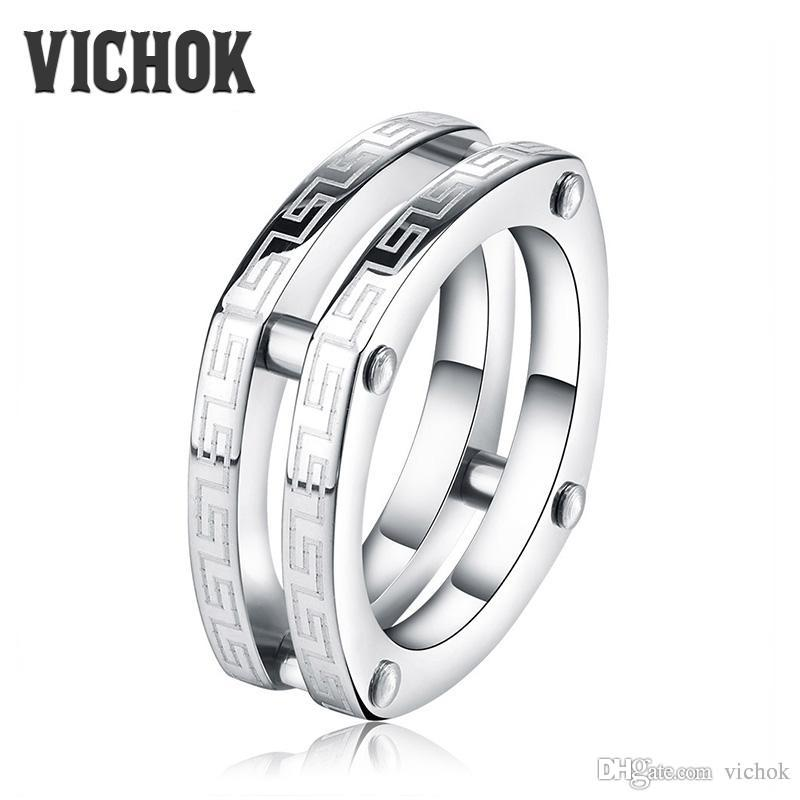 rings wedding band hammer double finish groove titanium ring