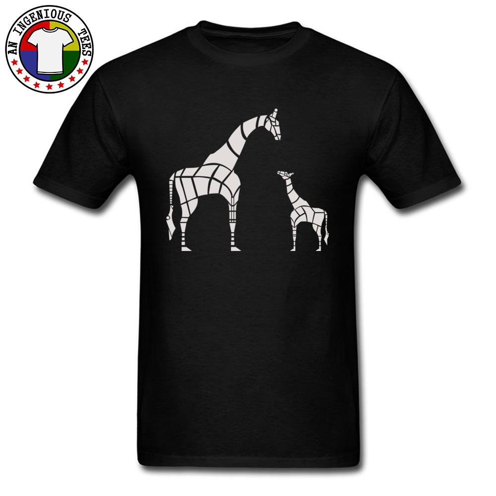 6142ac0c1 Men 100% Cotton Summer Tops & Tees Normal Tops Tees Giraffe Mother And Baby  Print Type Graphic T Shirts Mens Streetwear T Shirt Over Shirt Best T Shirt  Site ...