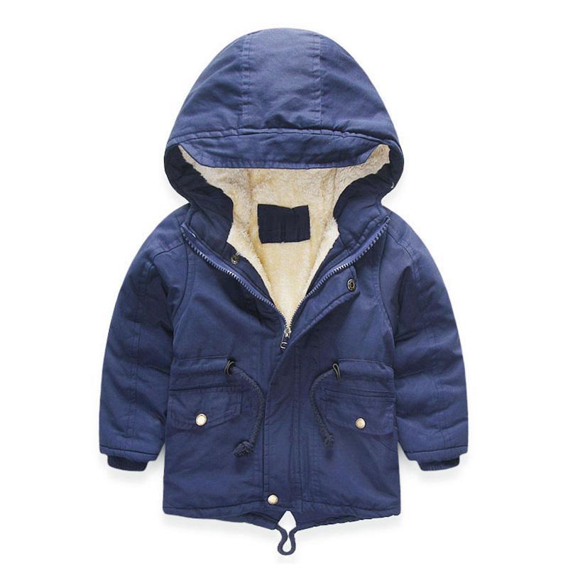 63d25f1b4 Winter Coat Boys Girl Windbreaker Fashion Kids Parka Thicken Warm ...