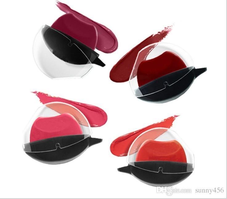 2017 hot! The Fashion Lazy Lipstick series makeup :#1 Deep red, #2 Pumpkin color, #3 light purple, #4 pink free ship