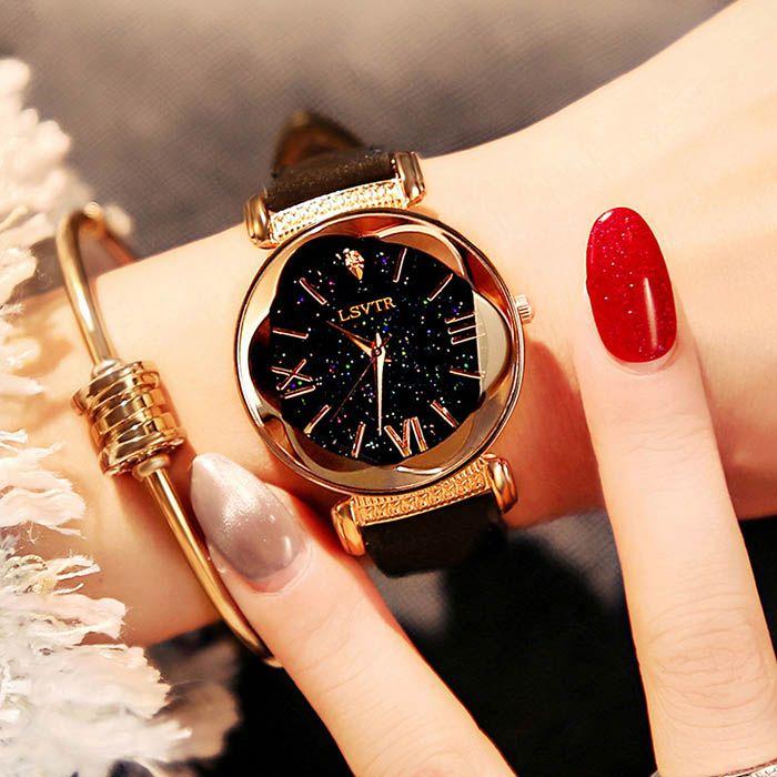 ce5bcdae0a2cb LSVTR Brand Watch Women Exquisite Top Luxury Diamond Quartz Ladies Watch  Fashion Leather Wristwatch Women Watches Saat Relogio Feminino Online  Watches ...