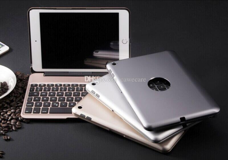 Pad Mini 4 Smart Cover Wireless Bluetooth 3.0 Keyboard Aluminum ABS Backlit C088 with 2800mAh Battery