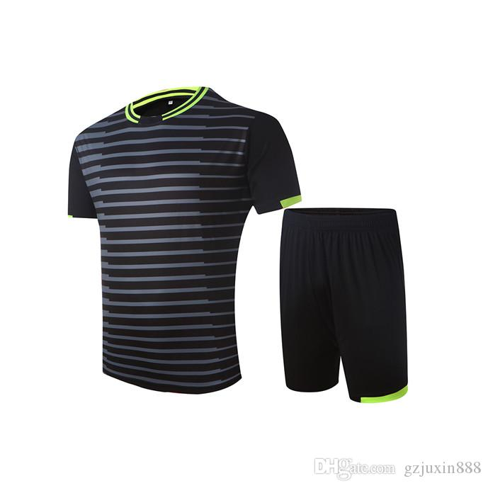 aca1272c9 2019 2014 15 Season Excellent Black Color DIY Blank Men Soccer Sets Of  Jersey & Shorts Male Breathable Outfit Striped Football Kit Uniforms HE005  From ...