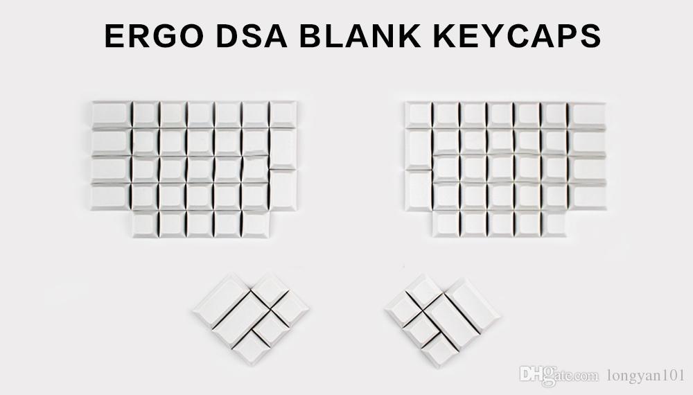 DSA PBT Key Caps For Ergodox Blank Pbt keycap Set custom mechanical  keyboards Infinity ErgoDox Ergonomic Keyboard keycaps